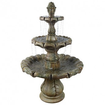 Classic Finial Fountain 6pc in Relic Nebbia