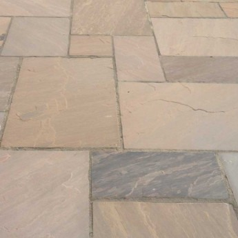 Autumn Brown Sandstone paving