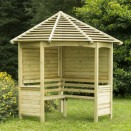 Forest Garden Venetian Corner Arbour with slatted roof