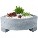 London Grey Corner 12.5cm Trough Planter
