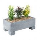 London Grey Rectangle 12.5cm Trough Planter