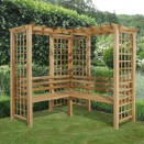 Forest Garden Sorrento Arbour with trellis