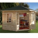 Forest Wenlock Log Cabin 3.0m x 3.0m 28mm