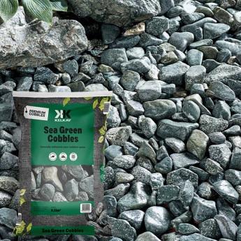 Kelkay Sea Green Cobbles 40-100 mm