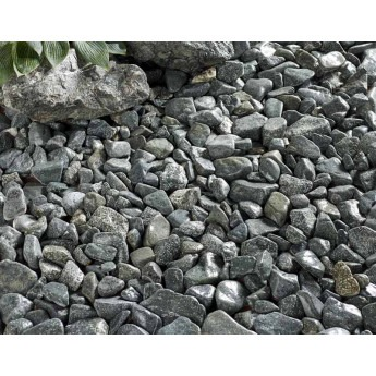 Forest Green Cobbles 30-90 mm wet look